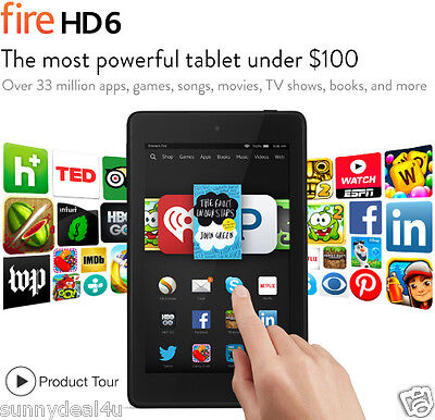 Brand New Amazon Kindle Fire HD 6 8GB, Wi-Fi, 6in - Black Sealed