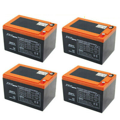 4x 6DZM15   6DZM12 12V 15AH Rechargeable Battery for Electric Mobility Scooters