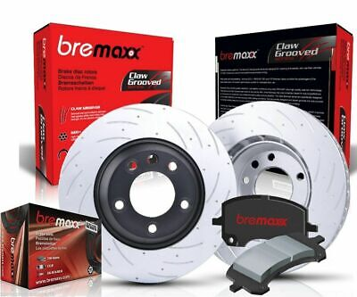 SLOTTED PAIR BREMAXX FRONT REAR disc brake ROTORS & PADS VE V6 HOLDEN COMMODORE
