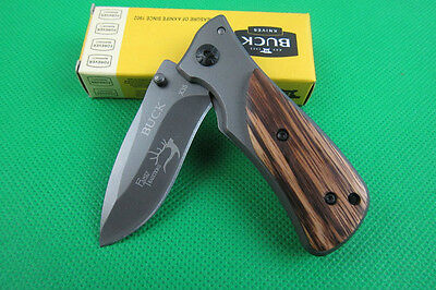 Buck Knife Small Pocket Folding Rescue Saber Hunting Camping Tool zl K112c HOT
