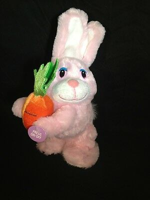 Animated Easter Bunny Pink Rabbit Plush Sings Peter Cottontail Dan Dee Collector