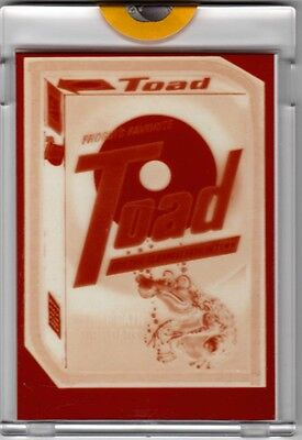 1981 TOPPS VAULT IRISH WACKY PACKAGES PROOF TOAD LAUNDRY SOAP GUM CARD