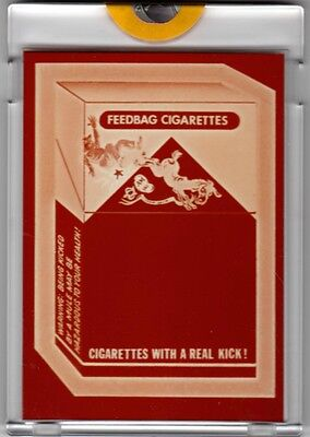 1981 TOPPS VAULT IRISH WACKY PACKAGES PROOF MULEBURRO CIGARETTES GUM CARD