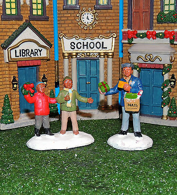 Mailman Delivering Gift To Children Two Piece Set 1:24 (G) Scale Diorama