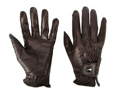 New Horse Pony Dublin Leather Show Gloves Dressage Jumping Gloves Black Brown