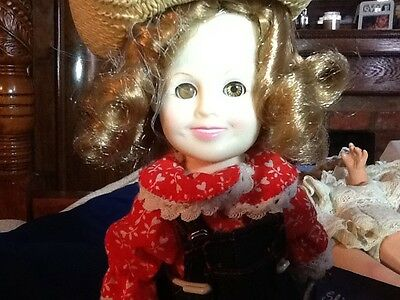 Shirley Temple collectible doll with stand