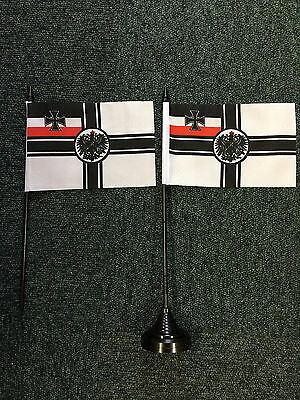 Germany Crest WW1 Table Top Flag 2nd Reich Imperial Kaiser 1914 1918 Deutschland