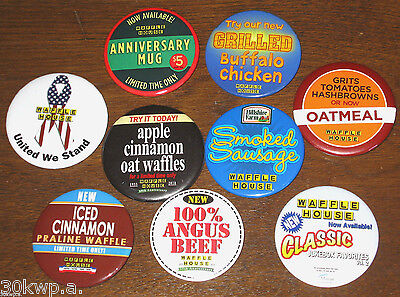 Lot of 9 Waffle House Pin Button