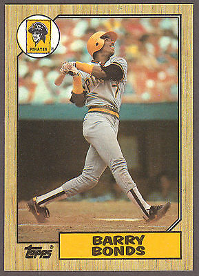 CRISP 1987 Topps BARRY BONDS *RC* Rookie #320; Sharp Corners & Great Centering!!