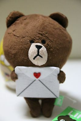 Naver Line App Characters Brown Holding Love Letter 8""