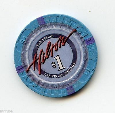 1.00 Chip from the Las Vegas Hilton Casino in Las Vegas Nevada House