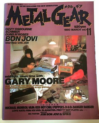 METAL GEAR Japan Magazine 11/1990 Vol.11 Bon Jovi Gary Moore Michael Monroe