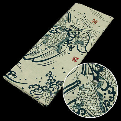 Japanese traditional towel TENUGUI  KOI FISH 10004728 NEW COTTON FROM JAPAN