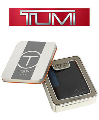 Tumi T-Tech MERGE Black Leather Folding Card Case, Authentic, MSRP $45, *NWT*