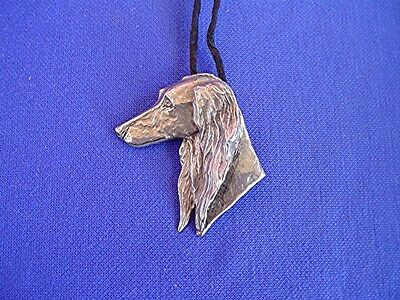 Saluki necklace HEAD STUDY #15C sighthound DOG Jewelry by Cindy A. Conter  CAC
