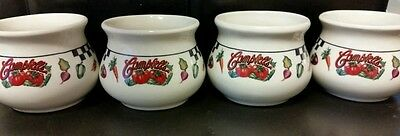 SET OF FOUR CAMPBELL SOUP BOWLS, MUGS, CUPS, GIBSON HOUSEWARES CHINA