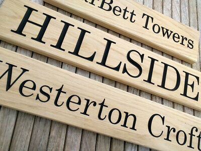 Beautiful Solid Oak Personal Wood Sign Carved - House Name/Gate Sign/Door Sign