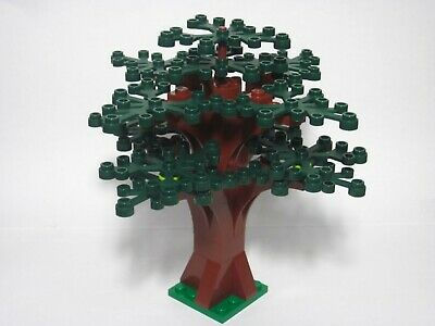 LEGO custom forest tree with 14 dark green leaves, new parts, FREE U.S. Ship!