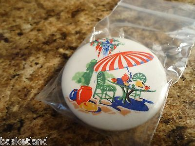 SUNPORCH SUN PORCH Pattern Pottery China Specialities REFRIGERATOR MAGNET MINT