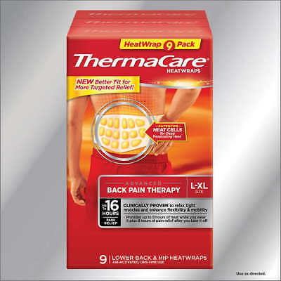ThermaCare Lower Back & Hip L/XL, 9 HeatWraps