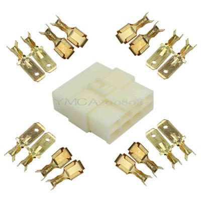1 Set 6.3mm 8 Way Male Female Electrical Plug Car Truck Boat Connector Terminal