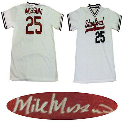 Mike Mussina Signed Stanford Baseball Jersey Steiner Sports COA MLB AUTHENTIC