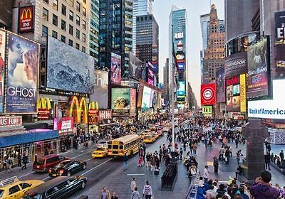 Times Square New York US City 3D Full Wall Mural Photo Wallpaper Home Decal Kids