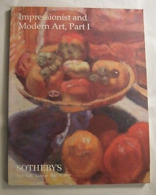 Sotheby's New York auction catalog Impressionist and Modern Art, Part I May 1999