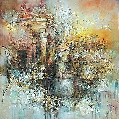 Modern Huge Wall Art 100% hand-painted oil painting on canvas-Abstract Building