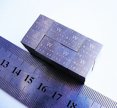 99.95% High Purity Tungsten W Metal Carved Element Periodic Table 10mm Cube EFD