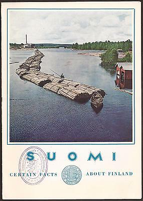 SUOMI FINLAND 1963 RARE TOURIST BROCHURE with NICOSIA-CYPRUS CONSULATE STAMP!!!