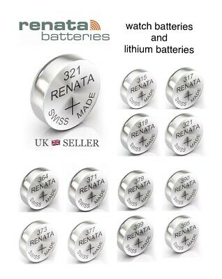 Renata Watch Battery Swiss Made All Sizes Cell Silver Oxide 1.55 Volt And 3 Volt