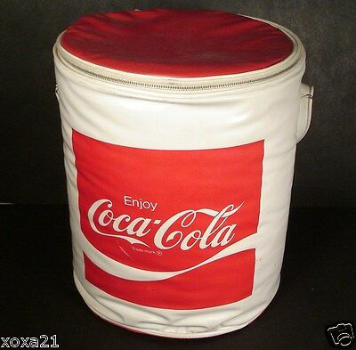 1960's  issue of Coca Cola Vinyl Cooler - Lunchbox -Lunchbag-No 1