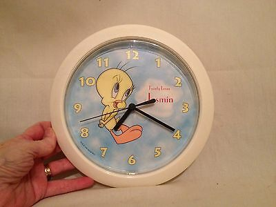 "Tweety Bird Clock 1998 Warner Bros. ""Tweety Loves Jasmin"" - Clock Works"