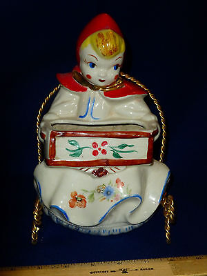 Red Riding Hood pottery by Hull.  Rare Wall Pocket style.