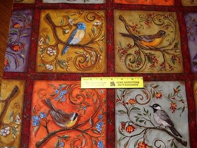 Legacy Studio  BIRDS  NESTLED  IN  THE  BRANCHES  20  SQUARES Cotton  Fabric