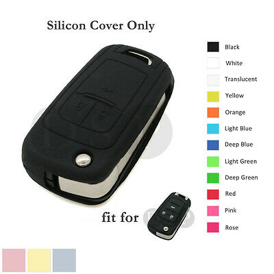 Silicone Cover Holder fit for Chevrolet Folding Flip Remote Key Fob Case 12C BK
