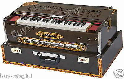 HARMONIUM No.6200tw/CALCUTTA/MAHARAJA™/3REED/9 SCALE CHANGER/TEAK/BOOK/BAG/BGH-2