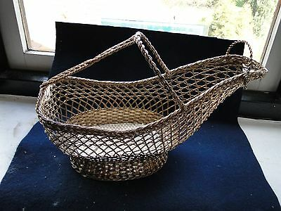 Silver Plated Wine Bottle Holder, Wire Work, 1940, Unmarked, Nice Shape