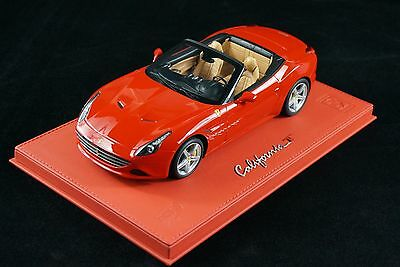 1/18 BBR FERRARI CALIFORNIA T SPIDER RED ON  DELUXE LEATHER BASE LE 10 PCS N MR