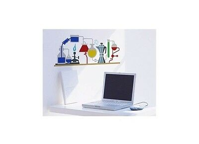 Chemistry Set Science Experiment Wall Decal Sticker Vinyl Mural Room Art Decor