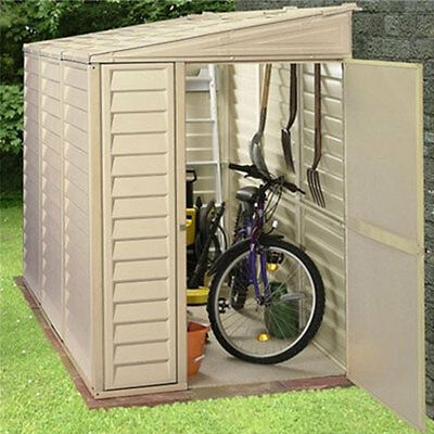 Duramax Sidemate 4x8 Ivory Lean-to Plastic Garden Shed