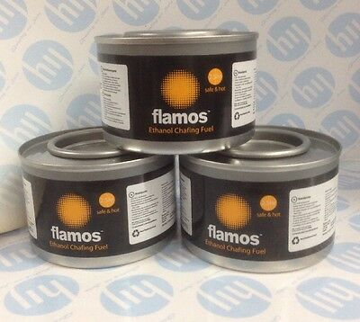 3 x Flamos Ethanol Chafing Fuel Catering 2.5 hours 74197 BBQ Buffet Gel Camping