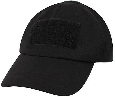 457d17ff Black Military Low Profile Soft Shell Adjustable Tactical Hat Operator Cap  9729
