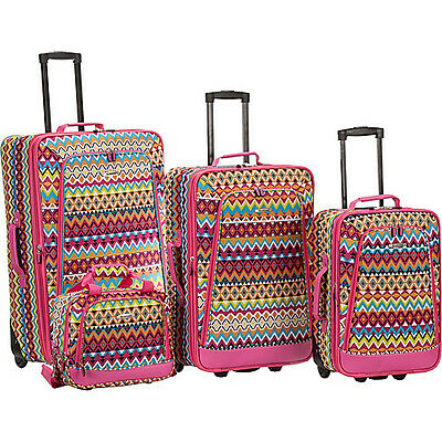 Rockland Luggage Style Right 4 Piece Luggage Set
