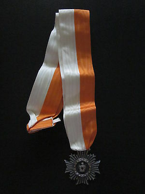 Masonic DeMolay Medal Cross Crest Medallion Ribbon Vintage De Molay