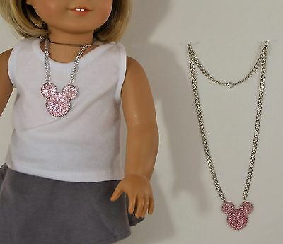 """For American Girl Doll and Child Mickey Mouse Design Jewelry, Clothes 18"""" Dolls"""