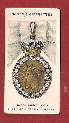The ROYAL ORDER of VICTORIA and ALBERT 3rd Class Badge Chivalry Medal 1907 card