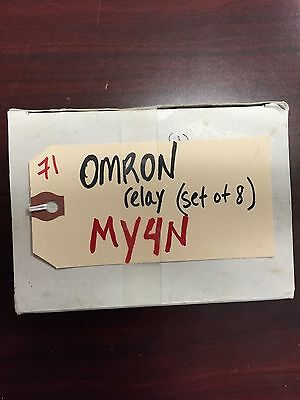 Lot of 8pcs Omron Relay MY4N