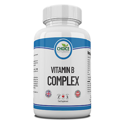 Vitamin B Complex High Strength Energy Healthy Hair Eyes Skin Nails Tablets